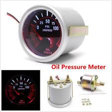 2''52mm Universal Car Turbo Oil Pressure Gauge Meter Smoke Tint Lens LED Backlit