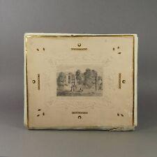19th Century Barritt Embossed Card Folio Album Pencil Drawing Isle of White