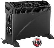 Black 2kW Floor Standing & Wall Mounted Home & Office Convector Radiator Heater