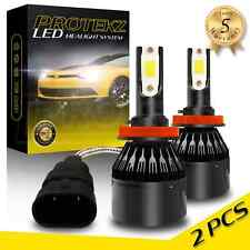 Protekz LED Light Bulbs Kit 400W 80000LM H11 H8 for Ford Edge Escape F150 Fusion