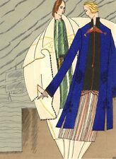 Gazette Du Bon Ton MANTEAUX INSPIRES DES COSTUMES... Fashion POCHOIR Art Deco