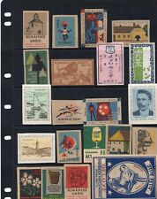 Match Box Labels, 2 Pages, Various Foreign.