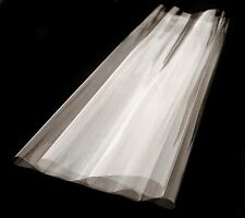 WIDE CLEAR CELLOPHANE ROLL FLORIST CRAFT FILM WRAP Clear  + Free Pull Bow