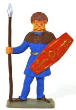Starlux Gaul - Lance & Hexagonal Shield - 60mm painted soldier - Only 2 remain!