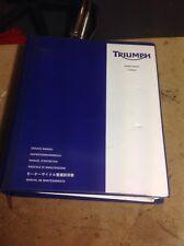 TRIUMPH Speed Triple 1050 Genuino 05-11 Manual De Servicio