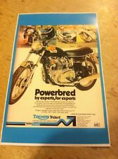 Vintage Triumph Trident Motorcycle Poster Man Cave Art Christmas