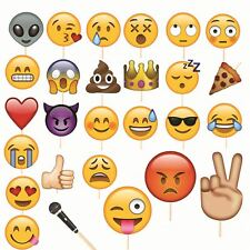 27pcs Emoji Faces Photo Booth Props Funny Mask for Wedding Birthday Party Events