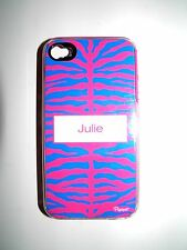 "PERSONALIZED NAME COVER FOR IPHONE 4/4S WITH 2 LAYERS ""JULIE"" NEW"