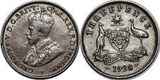 AUSTRALIE 3 PENCE 1928 KM#24