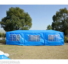 Outsunny 30x10ft Event Party Tent Camping Gazebo Wedding Canopy with Walls Blue