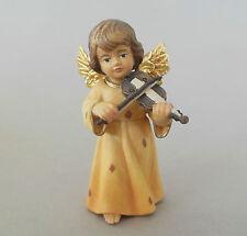 Engel mit Violine ca. 7 cm hoch, Holz geschnitzt bemalt 604-07-WH Pyramidenengel