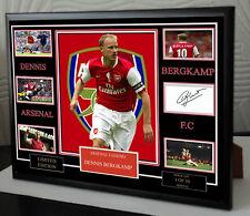 More details for dennis bergkamp a3 a4 signed framed tribute