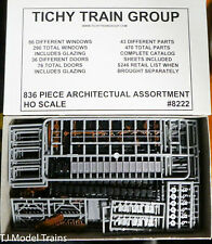 Tichy Train Group #8222 (HO Scale) Architectual Asst. 836 Parts (Lots of Parts)