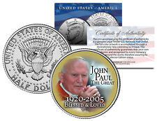 POPE JOHN PAUL II The Great 2005 JFK Half Dollar Colorized Coin BLESSED & LOVED