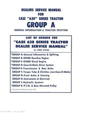 Case 630 Series 632 640 641 C Tractor Service Manual