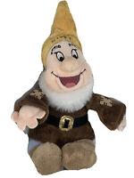 "Disney Store Happy From Snow White & The Seven Dwarfs -Soft Toy Plush Beanie 12"""