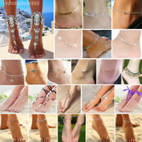 Boho Summer Womens Sandal Beach Bracelet Barefoot Chain Anklets Foot Jewelry Lot