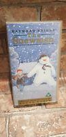The Snowman VHS Video Tape Special Introduction David Bowie Children's Film TBLO