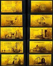 FULL SET JORDAN DINAR 5-50 REPLICA GOLD 24K