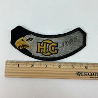 HOG Harley Owners Group 1997 Vintage Black Yellow Eagle Rocker Patch