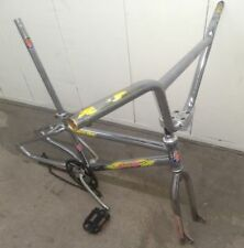 """GT MACH ONE Vintage Chrome 20"""" BMX Bicycle Frame and Accessories"""