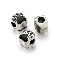 PAW PRINT Dog Cat Stainless Steel Gold Golden Tone Pendant Charm 13x12x1mm