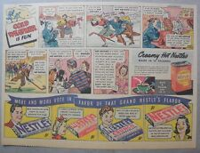 Nestle's Chocolate Bars Ad: Cold Weather is Fun ! 1930's-1940's 11 x 15 inches
