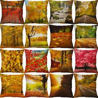 18'' Iandscape Pattern Cotton Linen Pillow Case Home Decor Sofa Cushion Cover