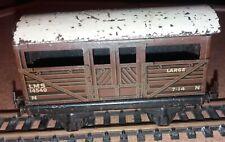 Vintage TTR Trix Tinplate LMS Cattle Wagon 14549 - OO Gauge - Free postage