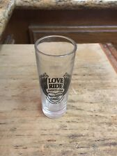 "Harley Davidson Love Ride Shot glass 4"" Shooter ,Harley of Glendale 11/14/2004"