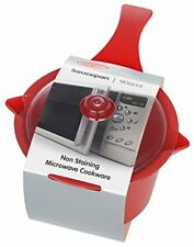 Easycook Microwave Saucepan with Lid 0.9lt RED