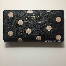 KATE SPADE Wellesley Printed Stacy Clutch Wallet (Polka Dot) *Brand New w/ Tag*