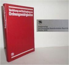 DDR Buch Nachschlagewerk Ordnungswidrigkeiten Bekämpfung ( für Polizei Staatsfun