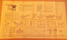 Newnes Home Mechanic 1930s Vintage Gate Leg Table Chart Plans DIY