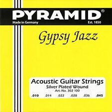 Pyramid acoustic guitar guitarra cuerdas frase gypsy jazz Django style. 010 - .045