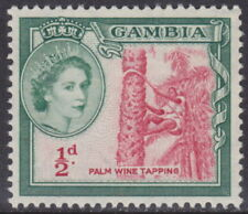 GAMBIA - 1959 ½d Carmine and bluish green - UM / MNH