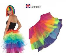 High Quality Ladies Girls Tutu Skirt Fancy Skirts Dress Up Hen Party RAINBOW UK