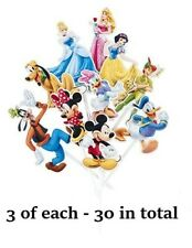 30 Disney Characters Mix Cake Party Cupcake Toppers Birthday Decoration Pick