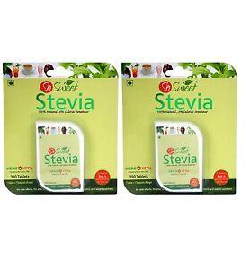 So Sweet Stevia  Sugarfree Sweetener - 200 Tablets Pack of 2 (100 tab each )