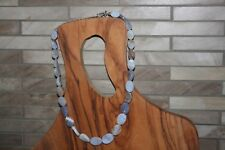 """Jay King 21"""" blue agate (??) stone Necklace .925 Sterling"""