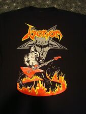 Venom Cronos Fire Shirt Large Black Metal Full Color