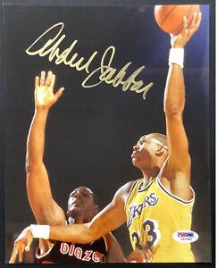 Kareem Abdul Jabbar Signed Photo 8x10 Basketball Alcindor Autograph PSA/DNA 1