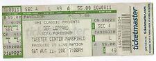 DEF LEPPARD Styx FOREIGNER Concert Ticket TOUR Stub MASSACHUSETTS Tweeter Center