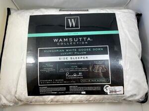 Wamsutta Luxury Standard Queen Hungarian White Goose Down Side Sleeper Pillow