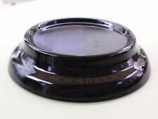 ANTIQUE PRESSED BLACK GLASS VASE TROPHY BOWL FIGURE DISPLAY BASE STAND A
