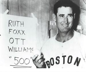 """Ted Williams - 8"""" x 10"""" Photo - June 17, 1960 - 500th Home Run - Boston Red Sox"""