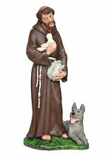 Saint Francis of Assisi resin statue cm. 30
