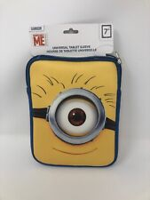"""Despicable Me Minions 7"""" Universal Padded Tablet Sleeve Cover Case A21"""