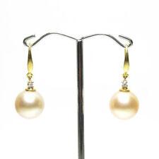Large South Sea Pearl Earrings, 12.8mm Pearls, 18k gold hook, Australian Pearls