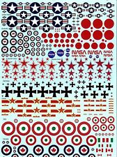 Insignia Decal Sheet USA, Japanese, Australian, Russian, Soviet Union, German